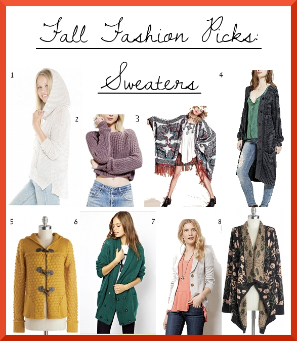Fall Picks Sweaters